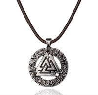 Wholesale men's jewelry online - 1pcs Slavic Norway Pendant Necklace For Women Men Necklace Scandinavian Odin s Symbol of Norse Viking Jewelry