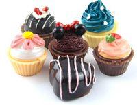 labios de fresa al por mayor-New Cupcake Lip Gloss Balm 6 Bálsamos con sabor Bálsamo Christmas Secret Santa Lipgloss lápiz labial Cake Chocolate Cherry Strawberry Cream Cosmetic
