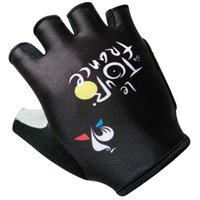 Wholesale New Style Gloves - Tour de france cycling gloves 2017 New Style Cycling Bike Bicycle Team Antiskid GEL Sports Half Finger Silicone Gloves Size:S-2XL K2903