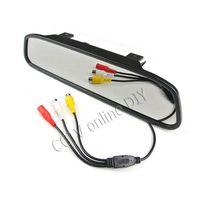 "Wholesale Wireless Parking Camera Rearview Mirror - Wireless 4.3"" LCD Car Rear View Rearview DVD Mirror Monitor + IR Backup Camera System Kits"