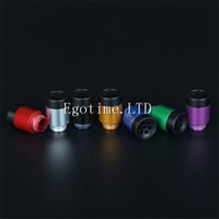 Wholesale Bear Filters - Heat insulation Buttons Style Drip Tips Wide Bore Drip Tip Aluminium with Resin 7 holes filter Drip Tip for 510 RBA RDA Subtank Atomizer