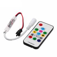 Wholesale Digital Rf Controller - 2016 New DC 5V Wireless mini 14keys RF Digital Color RGB LED Controller for WS2811 WS2812 WS2812B LED Strip