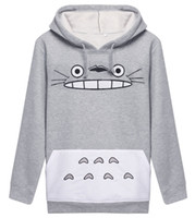 Wholesale Totoro Clothes - Raisevern Hot 3D Thick Sweatshirt Harajuku Cartoon Totoro Animal Print Women Cosplay Suit Hoodie Spring Autumn Outside Clothes cotton