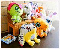 "Wholesale Animal Adventure Plush - Hot Sale 7pcs Lot Agumon Gabumon Gomamon Biyomon Palmon Patamo 4"" 10cm Digimon Adventure Plush Doll Stuffed Toy Key chain plush Toys"