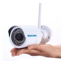 "Wholesale Outdoor Bullet Camera 6mm - ESCAM 1 4""CMOS Q6320WIFI ONVIF Ver. 2.2 720P WIFI Mini IR Bullet Camera P2P included 6mm Lens"