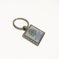 Wholesale Square Epoxy Stickers - DHL Free Shipping Wholesale Promotional Gift Custom Metal Enamel Keyring Square Zinc Alloy Epoxy Resin Sticker Logo Keychain Maker