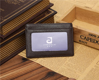 sports card trading - Many manufacturers customized fashion leather open wallet card multifunctional special foreign trade black coffee Clip Wallet