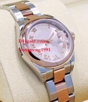 ingrosso w bracciale-Orologio da donna di alta qualità 26mm 279161 vetro zaffiro rosa quadrante oro rosa 18 carati Bracciale in acciaio inossidabile automatico meccanico da donna W
