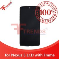 Wholesale Lg Nexus Housing - for LG Google Nexus 5 LCD Display & Touch Screen Digitizer with Front Housing Bezel Frame Full Assembly Black 100% Test High Quality