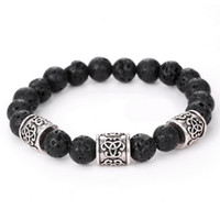 Wholesale Men s Women s New Fashion Diffuser Jewelry Natural Lava Stone Prayer Beads Charms Bracelets Anti fatigue Volcanic Rock Charm Bracelets