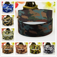 Wholesale Grosgrain Ribbon 22mm - Camouflage pattern printing Grosgrain Ribbons 0.86inch 22mm Kids DIY props for Garment clothing hair accessories MOQ20 Yards