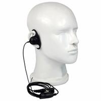 Wholesale Walkie Talkie Earpiece Black - 10 pcs Black D Loop PTT Earpiece For Motorola Walkie Talkie P6600 P6620 XPR3300 XPR3500 Headset C2264
