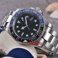 05cfec97027 Marca de luxo Azul Dial Limited homens da moda das mulheres Assistir GMT  Nova Mecânico Automático Mestre ii Mens relógios de aço inoxidável Wristw