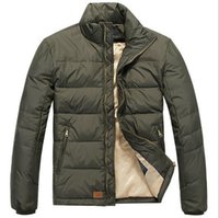 Wholesale Champagne Lanterns - Sales Thick Down Padded Pony Jacket Stylish Pocket Outwear Jaqueta Masculina Polo Down Parkas Casaco Masculino Windproof Puffer Jackets