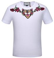 2017 neue frühling sommer herren t-shirts Leopard Angry Cat Print baumwolle kurzarm Floral tee tops marke clothing casual t-shirt