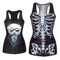 blusenpreise großhandel-Großhandels-niedriger Preis! Mode Frauen Mädchen Weste Tank Tops Print Blusen Gothic Punk Rock Party Clubwear T Shirts Freeshipping