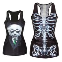 bluz fiyatları toptan satış-Toptan-Düşük Fiyat! Moda Kadınlar Kız Yelek Tankı Üstleri Baskı Bluzlar Gotik Punk Rock Parti Clubwear T Shirt Freeshipping