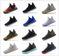 Wholesale Pe Lights - Newest Zoom KD 10 Anniversary PE Oreo Red Men Basketball Casual shoes KD 10 X Elite Low Kevin Durant Grade School Sport Sneakers size 40-46