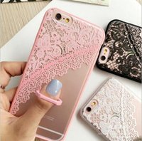 Wholesale Smart Buy Wholesale - Bulk Buy From China Fashion TPU Material Anaglyph Lace Ring buckle Smart Phone Case for iphone 6s 6s Plus with free dhl shipping