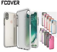 Hybrid Armor Wave Point para Apple iphone X Case iphone 6 Plus 6s 7 Plus 8 Plus Protector contra el choque TPU Soft Gel Skin Back Cover