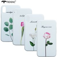 Tronsnic Silikon Telefon Fall für iPhone 8 Blume Rose Relief Fall Pflanzen Soft White Cover 3D Muster für iPhone 8 Fashion Girl