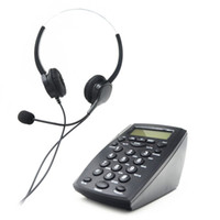Wholesale Telephone Headset Corded Phones - Fsk dtmf Call Center Dial Pad Telephone Desk Phone with Backlight Tone Dial Key Pad & Redial- Caller Id Display, Headset for Two Ears