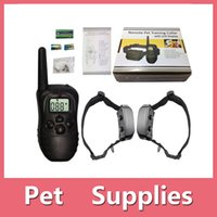 Wholesale Ultrasonic Collars For Dogs - Pet Training Supplies Remote Control Electronic Dog Training Collar Pet Stop Barking Device For 2 Dogs DHL Free 161008
