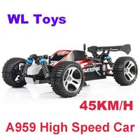 Wholesale Off Road Remote Control Toy - Wholesale-45KM H 2.4G High speed Remote Control Toys RC Car 4WD Off-Road RC Monster Truck Vehicle Wltoys