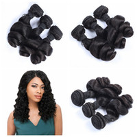Brazilian Peruvian Malaysian Indian Loose Wave Hair Tiza Cheap Loose Curl Extensões de cabelo humano 3 Bundles G-EASY