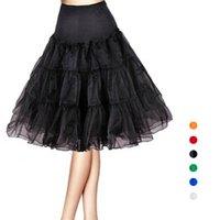 Wholesale Orange Ballet Tutu - S5Q Womens Sweet Vintage Underskirt Rock Dance Petticoat Ballet Tutu Short Skirt AAAFXH