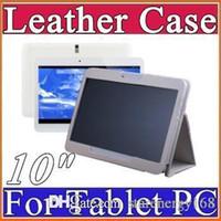 "Wholesale Tablet Phone General - 10X Leather case for 10"" 10.1 inch Samsung N9106 MTK6572 MTK 6582 6572 tablet phone 3G tablet PC general case A-PT"