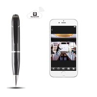 Wholesale Dvr H 264 For Iphone - WIFI Pen Camera HD 720P P2P IP Camera Hidden Video Recorder Spy Camera Pen DVR H.264 Remote View For Iphone Ipad Samsung Android Smartphones