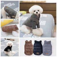 Wholesale Good Medium Size Dogs - New Arrival Autumn Winter Small Medium Dog Warm Solid Vest Good Quality PU Pets Brown Color Coat s M L XL XXL Size 30pcs lot Drop Shipping
