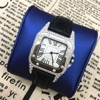 Wholesale Square Watch Ladies - 2017 Hot sale Luxury women watches with full diamond Fashion Colorful lady Wriswtwatches dress watch famous brand free shipping High Quality