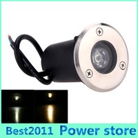 Wholesale Led Underground Lamp 1w - Epistar Waterproof 1W LED Underground Lamp Floor buried LED Light Warm White Cold White Red Green Blue Yellow AC85-265V
