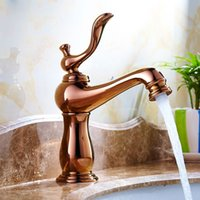 Wholesale Contemporary Gold Sink Faucets - Soild Brass faucet Gold Finished with different kinds of color Ceramics Body decorate Single Handle One hole kitchen sink Faucet