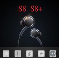Wholesale Earphones Oem - A++Quality S8 Headset Genuine Black In-Ear Headphones EO-IG955BSEGWW Earphones Handsfree For Samsung Galaxy S8 & S8 Plus OEM