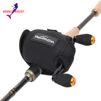 Wholesale Reel Covers - Wholesale-MermaidKnight Cotton Casting Reel Cover Baitcasting Fishing Reel Bag Black Camouflage 1Pcs (Without Reel)
