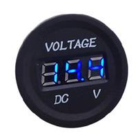 Wholesale Led Digital Volt Meter Blue - Professional Waterproof Gauge LED Digital Display Voltmeter 12V-24V BLue LED Light For Universal Car Motorcycle Measure Voltage 6V-30V
