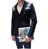 Wholesale Men S Leisure Outfits - Wholesale-Men's suit of > > 2016 autumn outfit new men han edition corduroy suit small floral leisure suit jacket