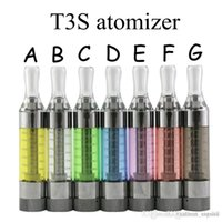 Wholesale Ego Mt3 Start Kit - Top Quality Kanger T3S 2.2ohm 1.8ohm coils 3.0ml Atomizer with MT3 Coils Clearomizer for ego evod vision spinner 2 starts kits fast shipping