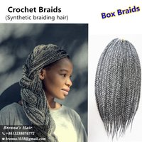 Wholesale janet braiding hair online - Janet Collection S Box Braid Hair Inch strands Crochet Hair kanekalon Synthetic Braiding Hair Extension g