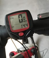 Wholesale Lcd Display Speedometer - Bicycle Computer Leisure 14-Functions Waterproof Cycling Odometer Speedometer With LCD Display Bike Computers for free shipping