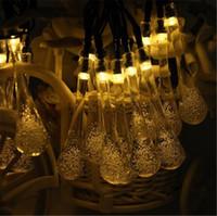 éclairage à cordes solaires blanches achat en gros de-Les lumières de glaçon de lumière de ficelle de la lumière LED de 480CM ont alimenté les lumières de fée de la chaîne LED de pluie pour la décoration d'éclairage extérieur