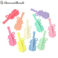 "Wholesale Violins Charms - Acrylic Pendants Violin At Random 5.5cm x 2.2cm(2 1 8"" x 7 8""), 50 PCs 2016 new Free shipping jewelry making"