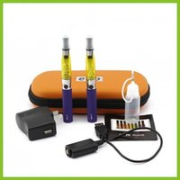 Double eGo CE4 Starter Kit E Cigarette 650mAh 900mAh 1100mAh eGo Batterie t 1.6ml CE4 Clearomizer E Cig ego Case Kit 12 couleurs EN STOCK