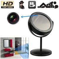 32GB 720 x 480 risoluzione girevole Hidden Camera Mirror spia Mini DVR con Motion Detection sicurezza domestica videocamere CCTV DVR