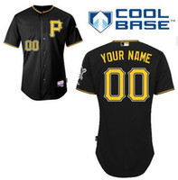 black pirate shirt - 2015 Pittsburgh Pirates Custom Baseball Jersey any name any number black white gray shirt stitched customize Camo Jersey