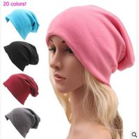Wholesale Thin Cotton Winter Hat - Winter Caps for Men Teens Ladies Autumn Winter Solid Color Casual Knitted Thin Cotton Hats For Men and Women Adult Caps