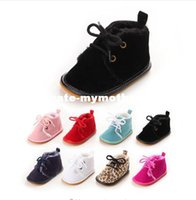 New Fashion Classic Casual Winter Super Keep Warm Solid Newborn Baby Girls Kids First Walkes Chaussures souples en caoutchouc souple